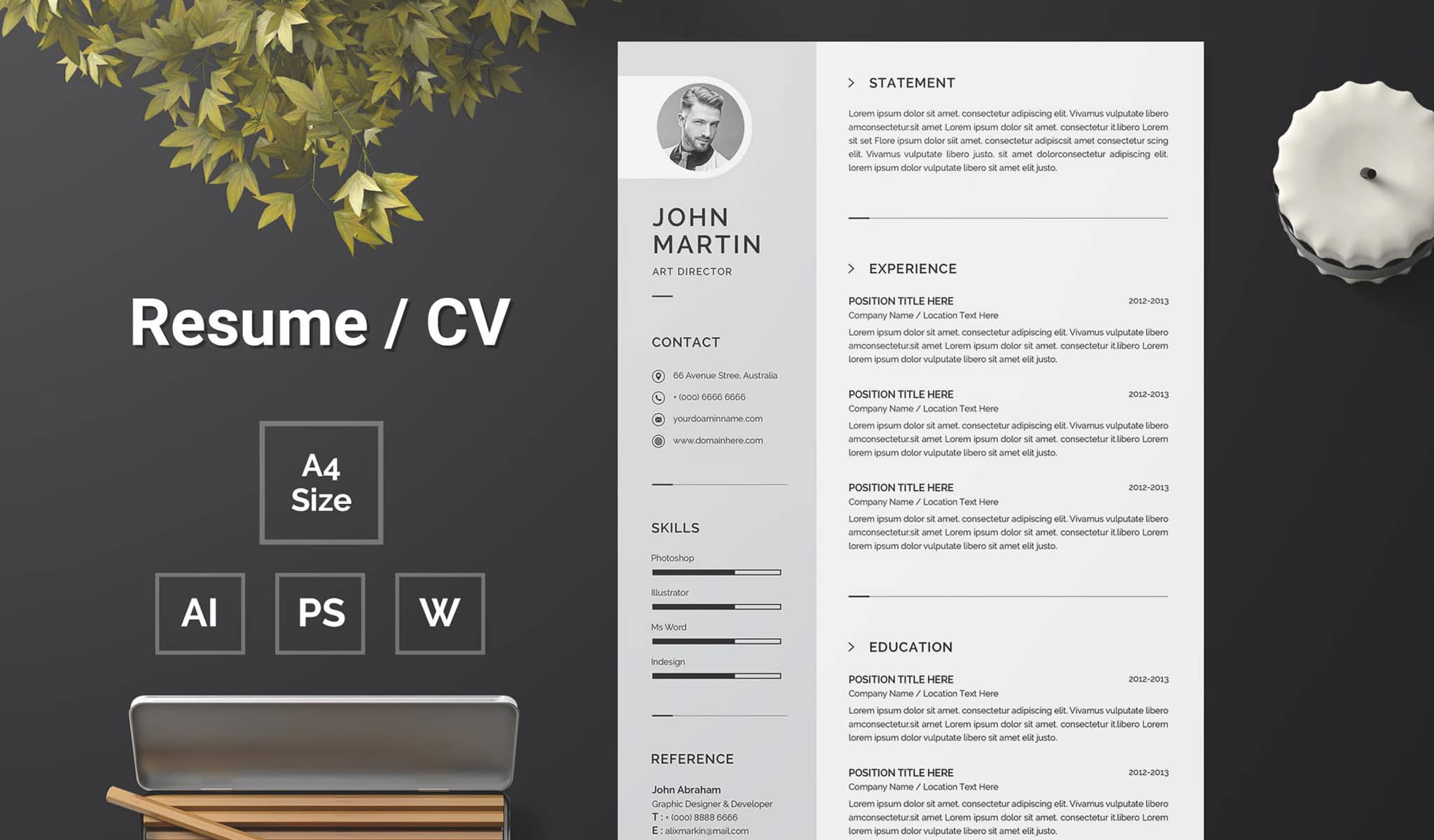 Single-page Detailed Resume Template