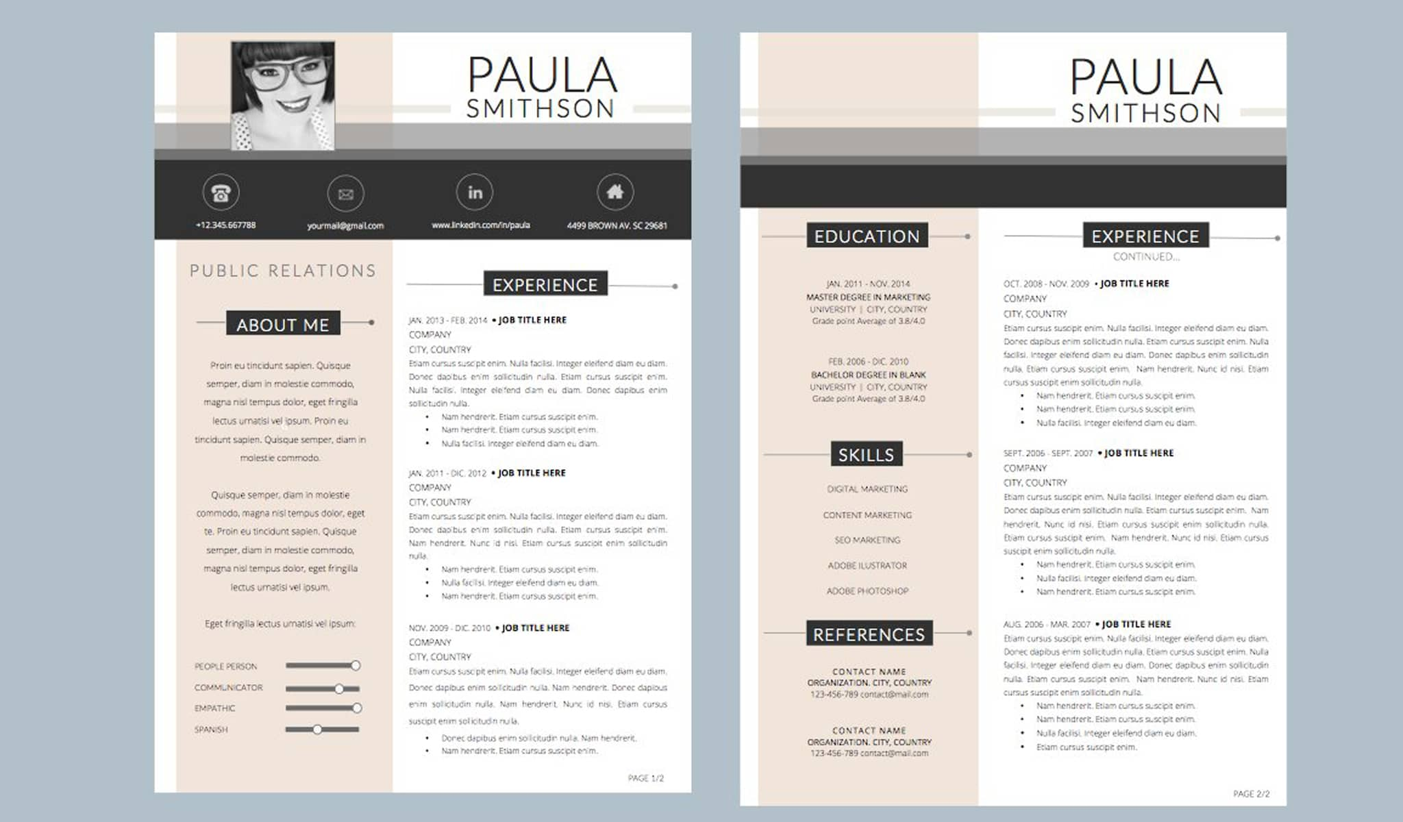 "The ""Pink"" Things Up Resume Template"