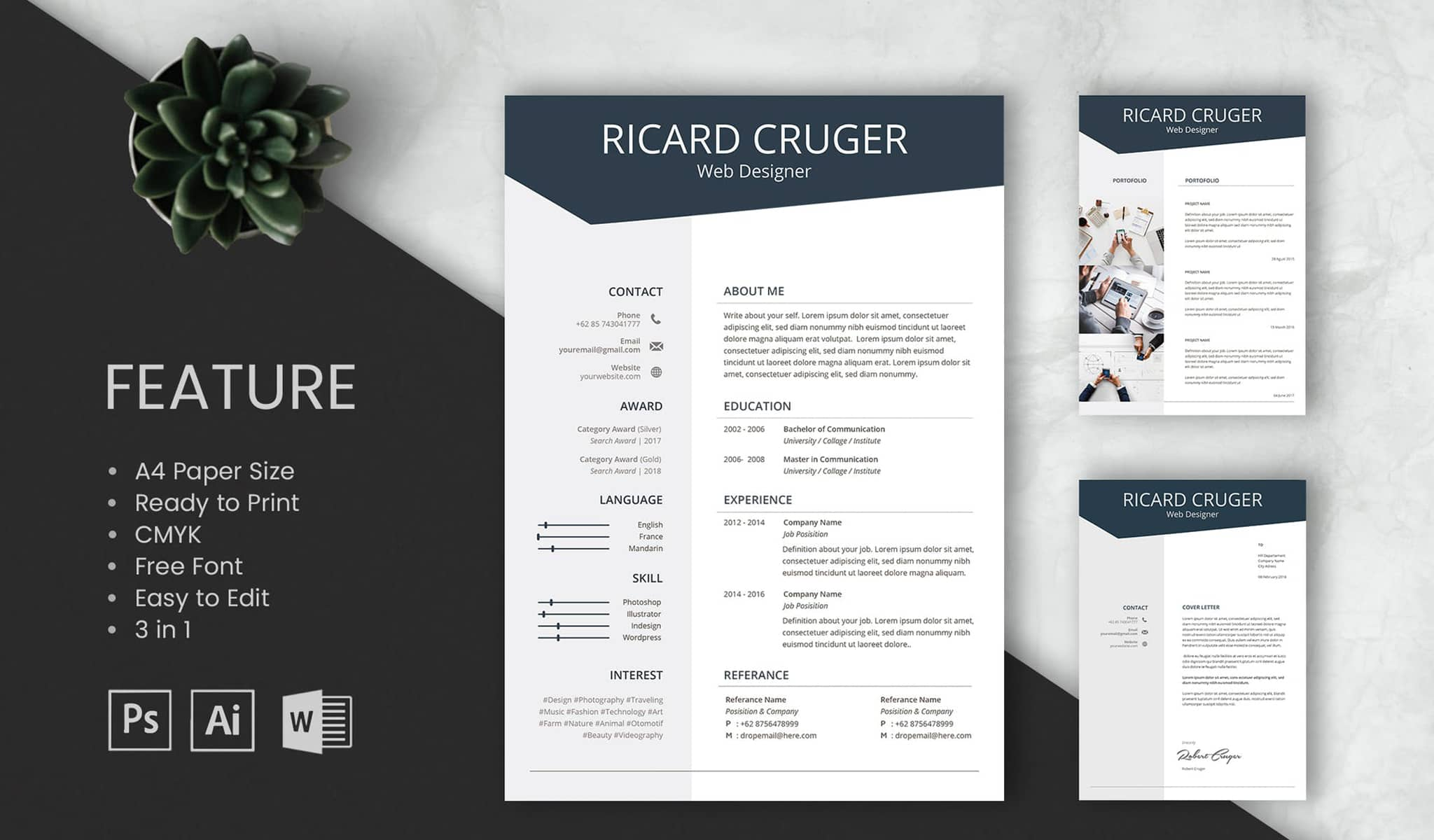 The Bold Resume Template