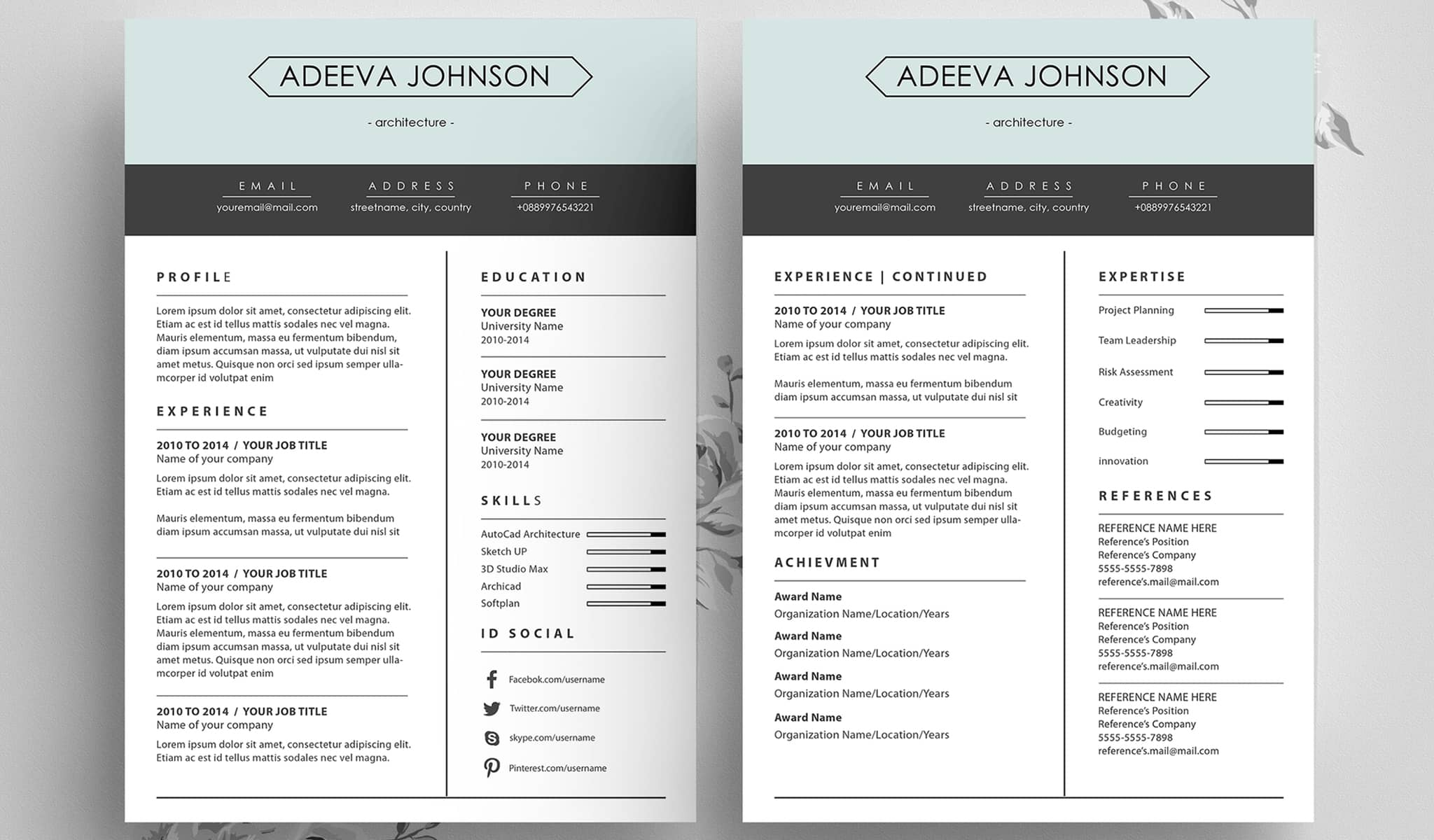 The Clean Crisp Resume Template