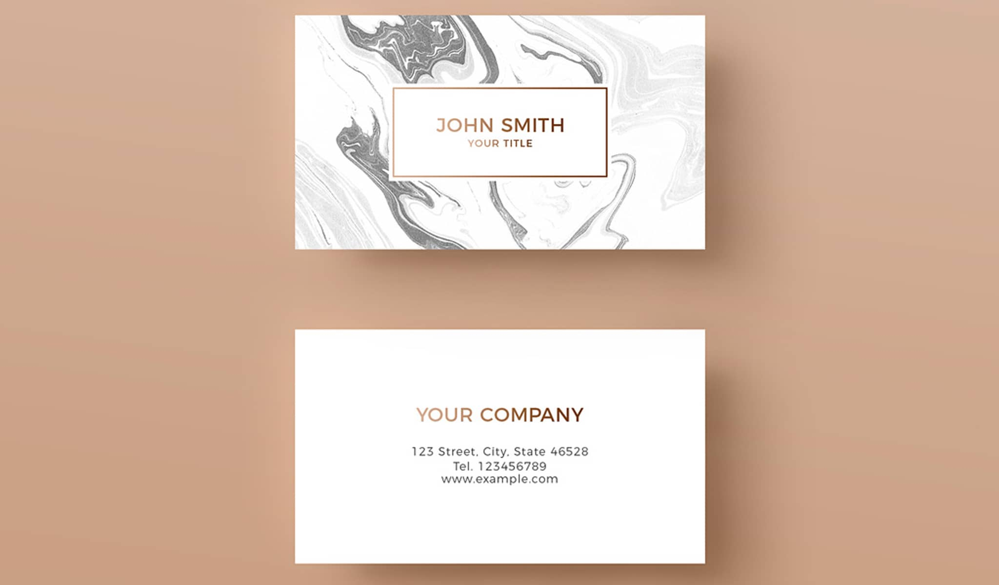 Marble Elegance Business Card Template