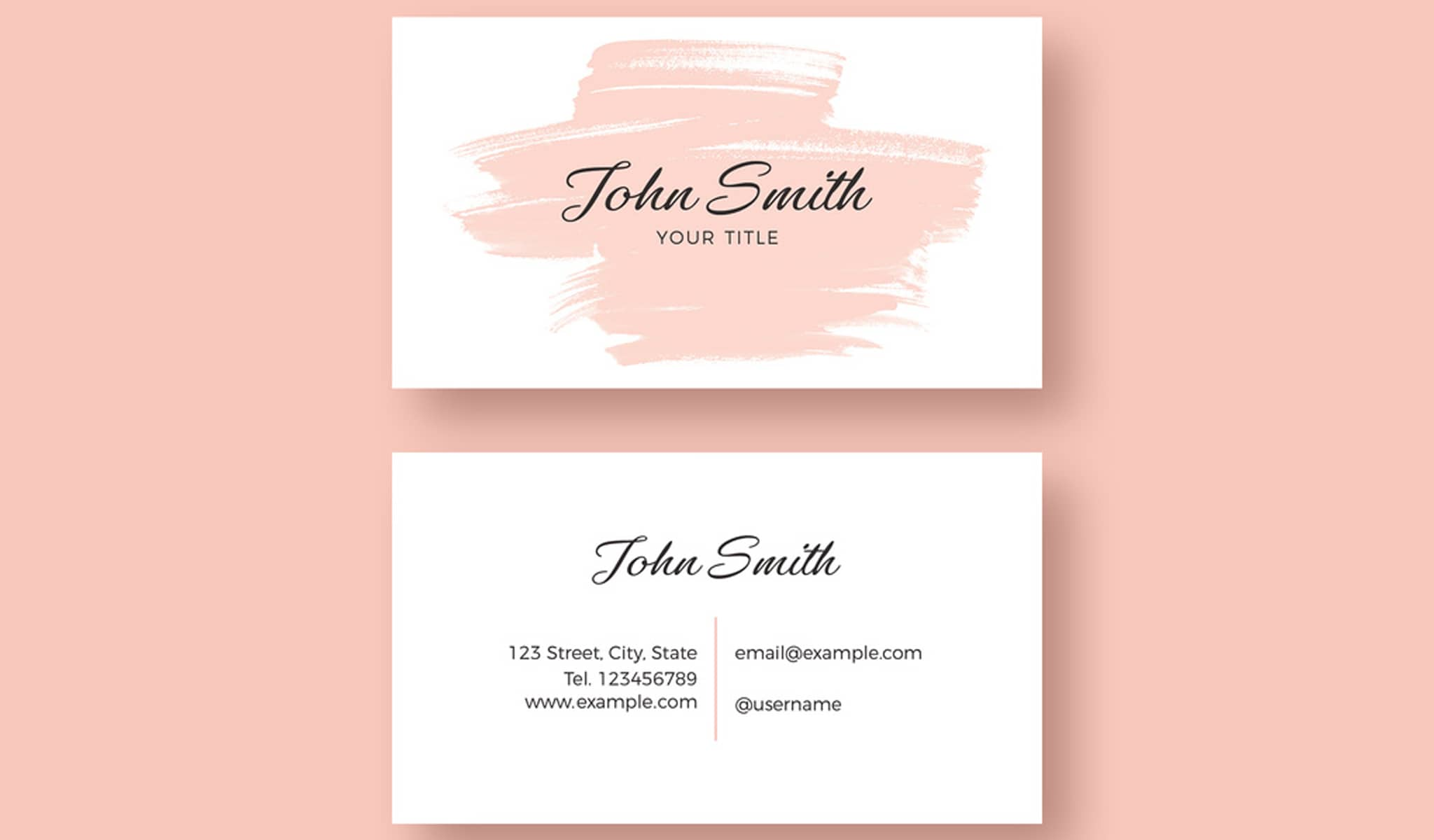 Feminine And Artsy Business Card Template