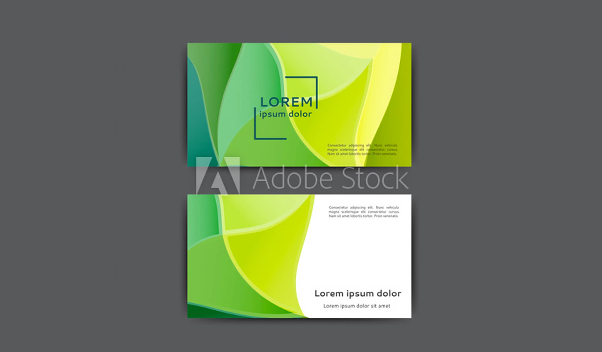 All the Shades of Green Business Card Template