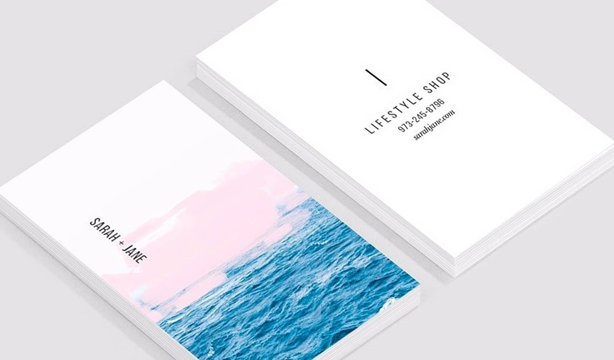 Ocean-inspired Business Card Template