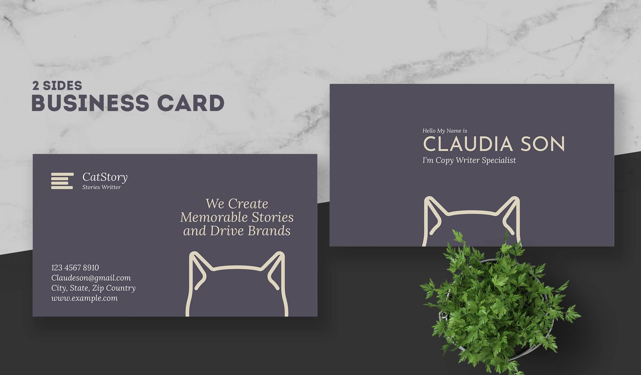 Cat Lovers Business Card Template