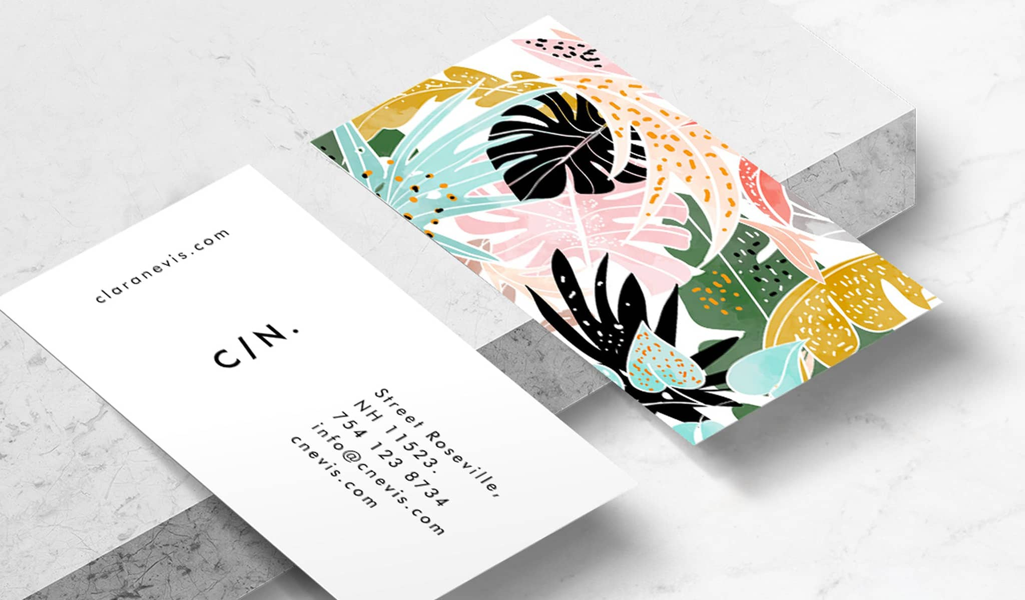 Tropical Paradise Business Card Template