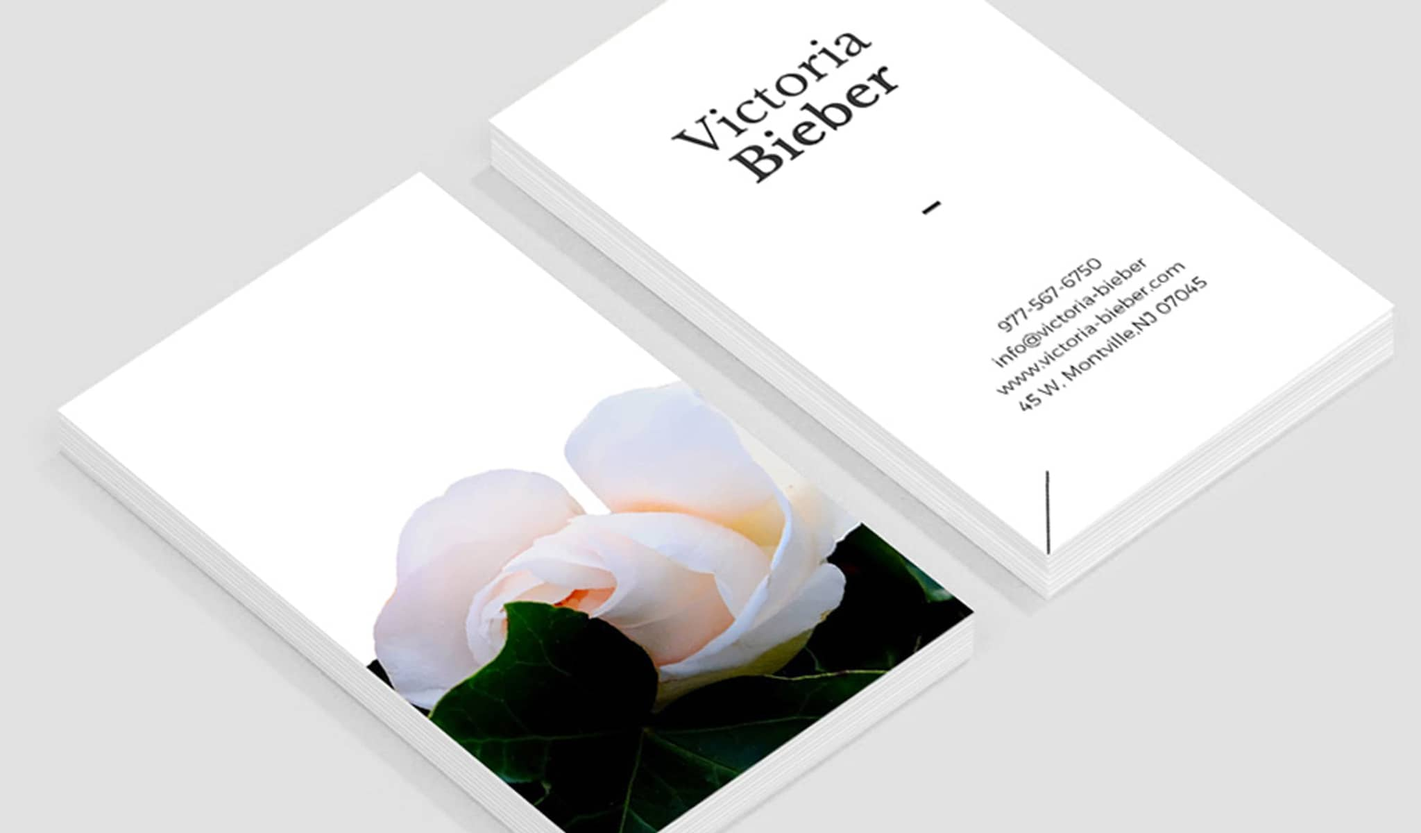 The Elegance of a Rose Business Card Template