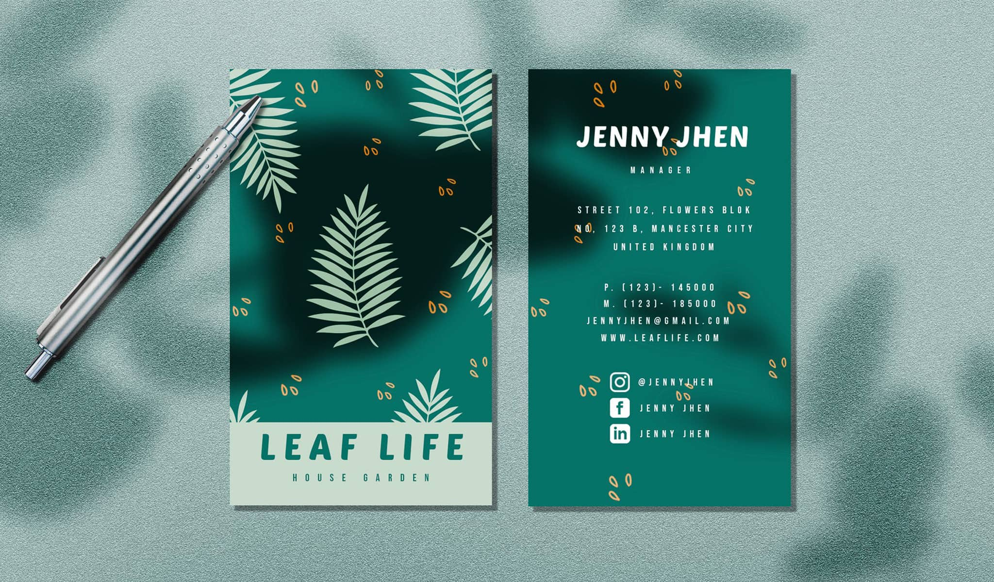 Leaf Life Business Card Template