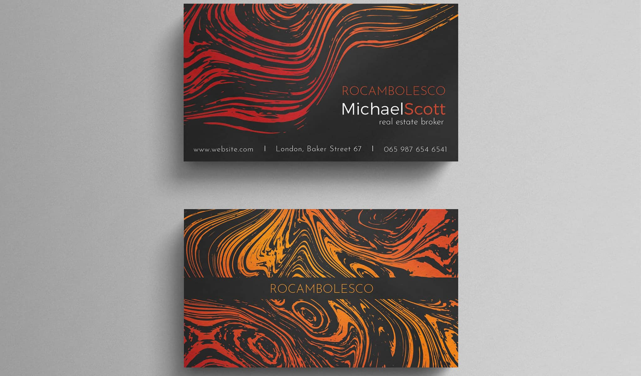 Marble Sunset Business Card Template