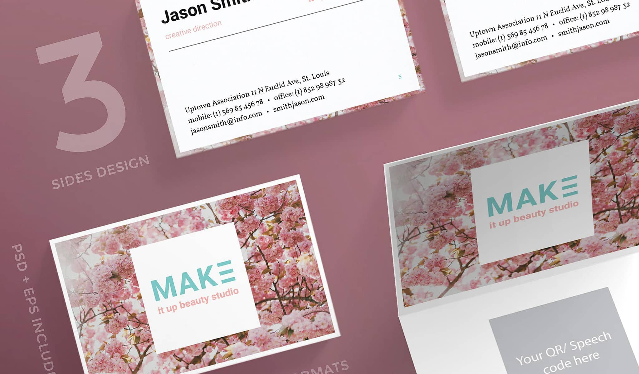 Spring Addict Business Card Template