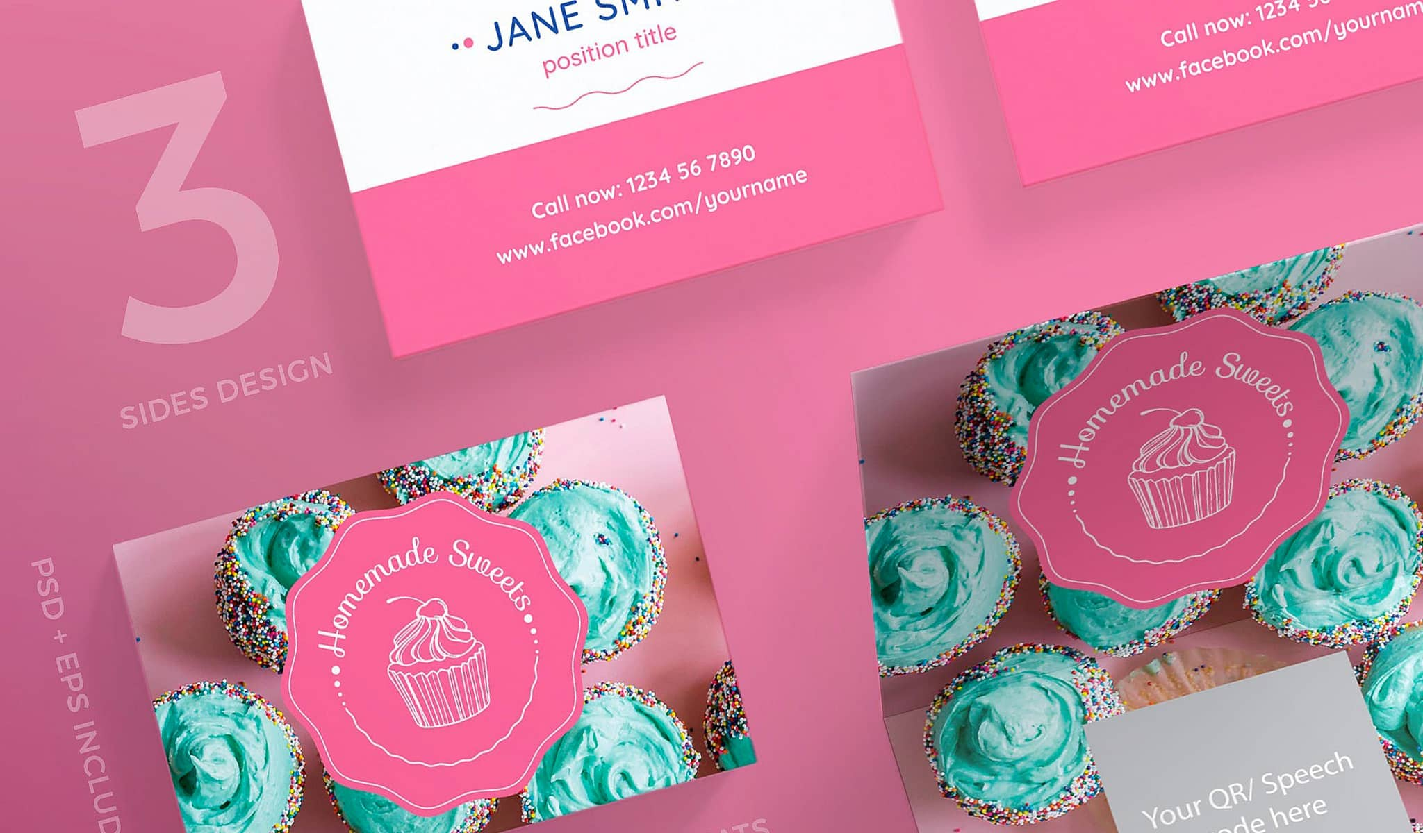 Cupcake Passion Business Card Template