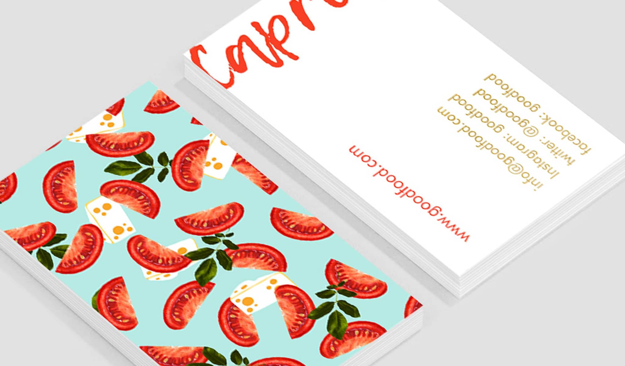Caprese Delight Business Card Template