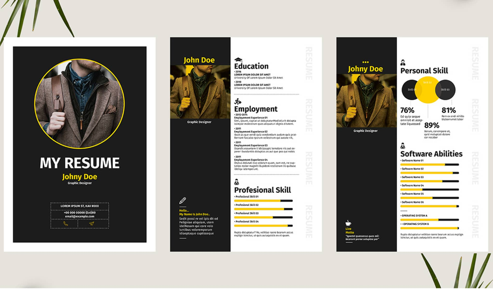 Strong And Bold Resume Template
