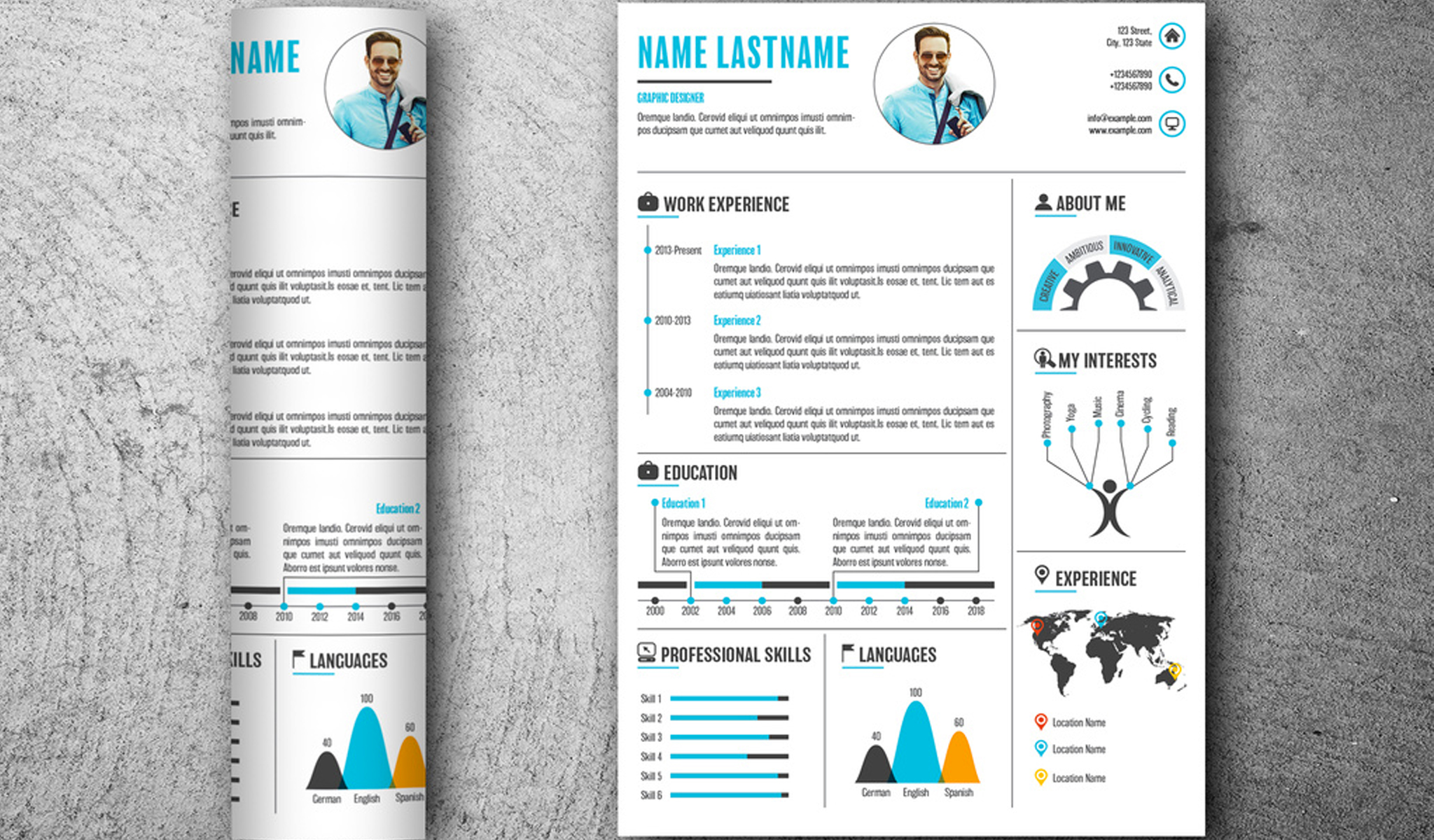Superior Infographic Style Resume Template