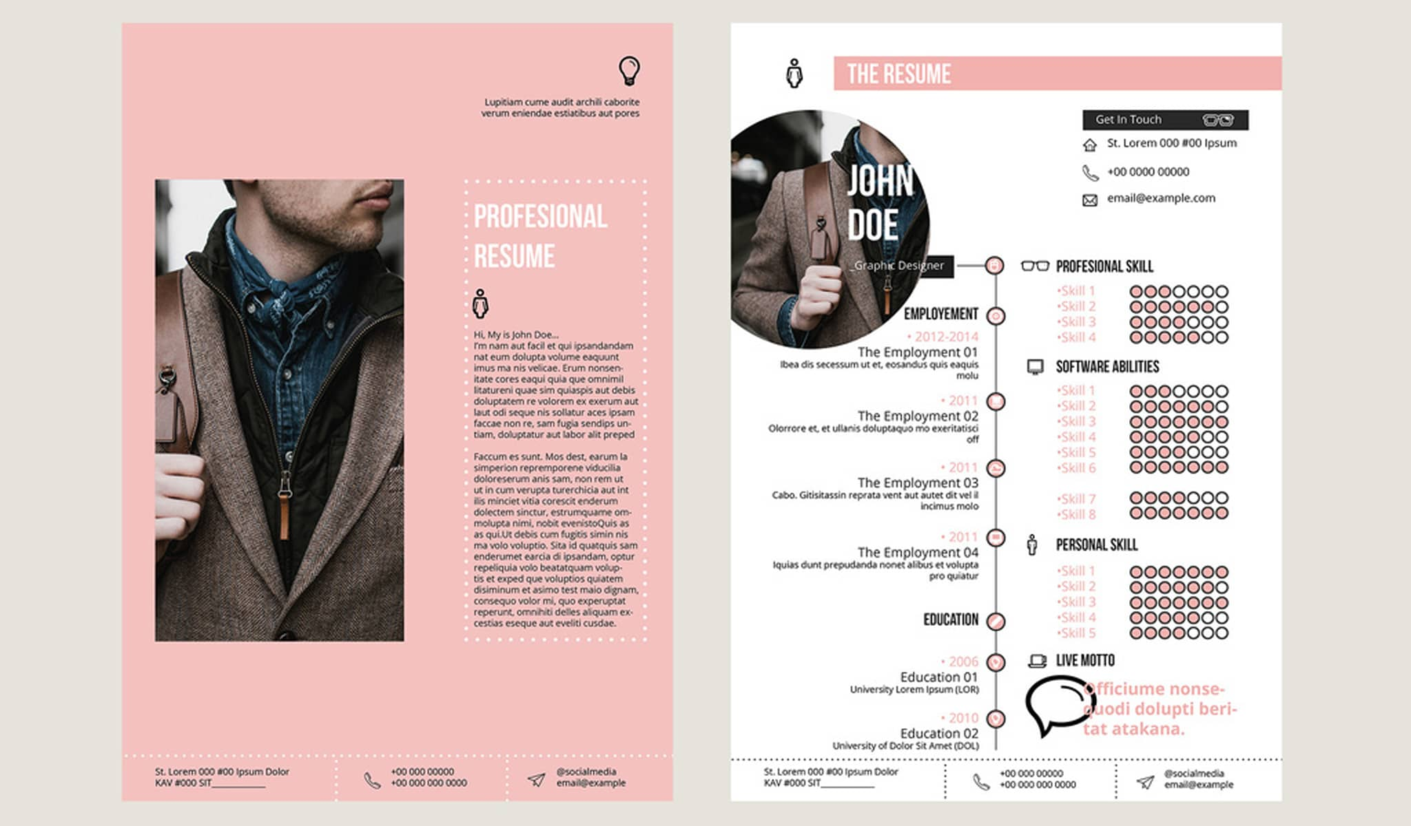 Solid Clean Smart Resume Template