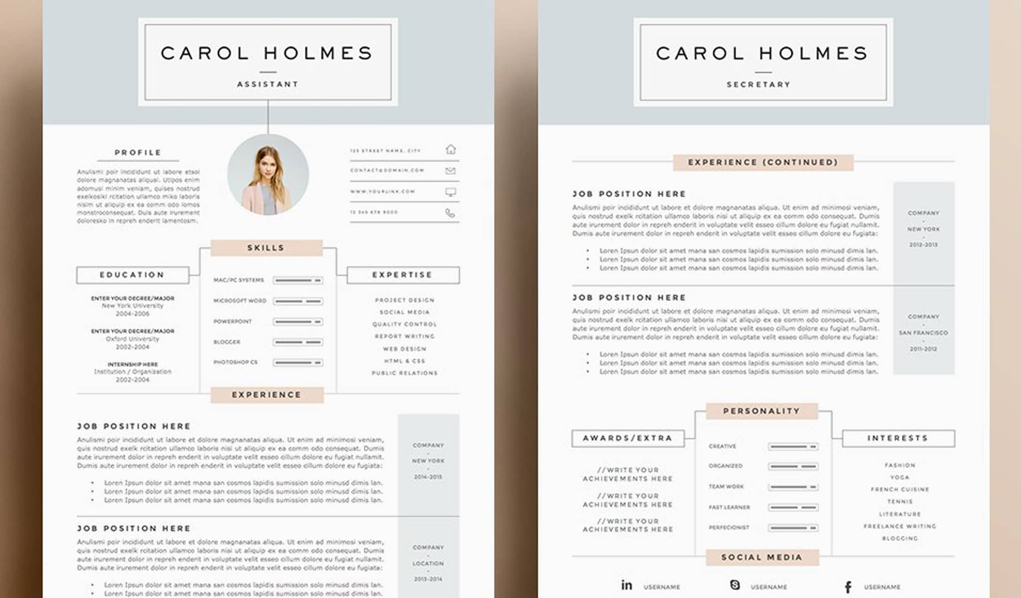 The Creative Layout Resume Template