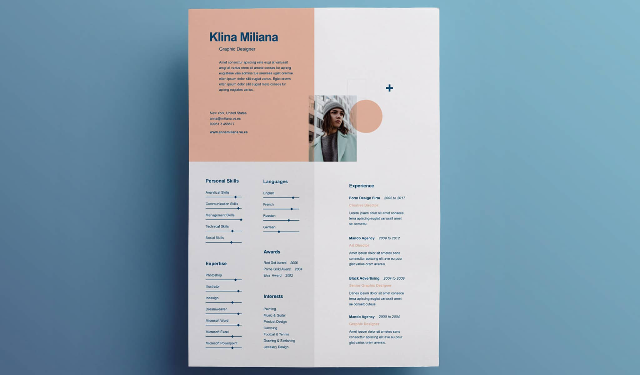 The Charismatic Feel Resume Template