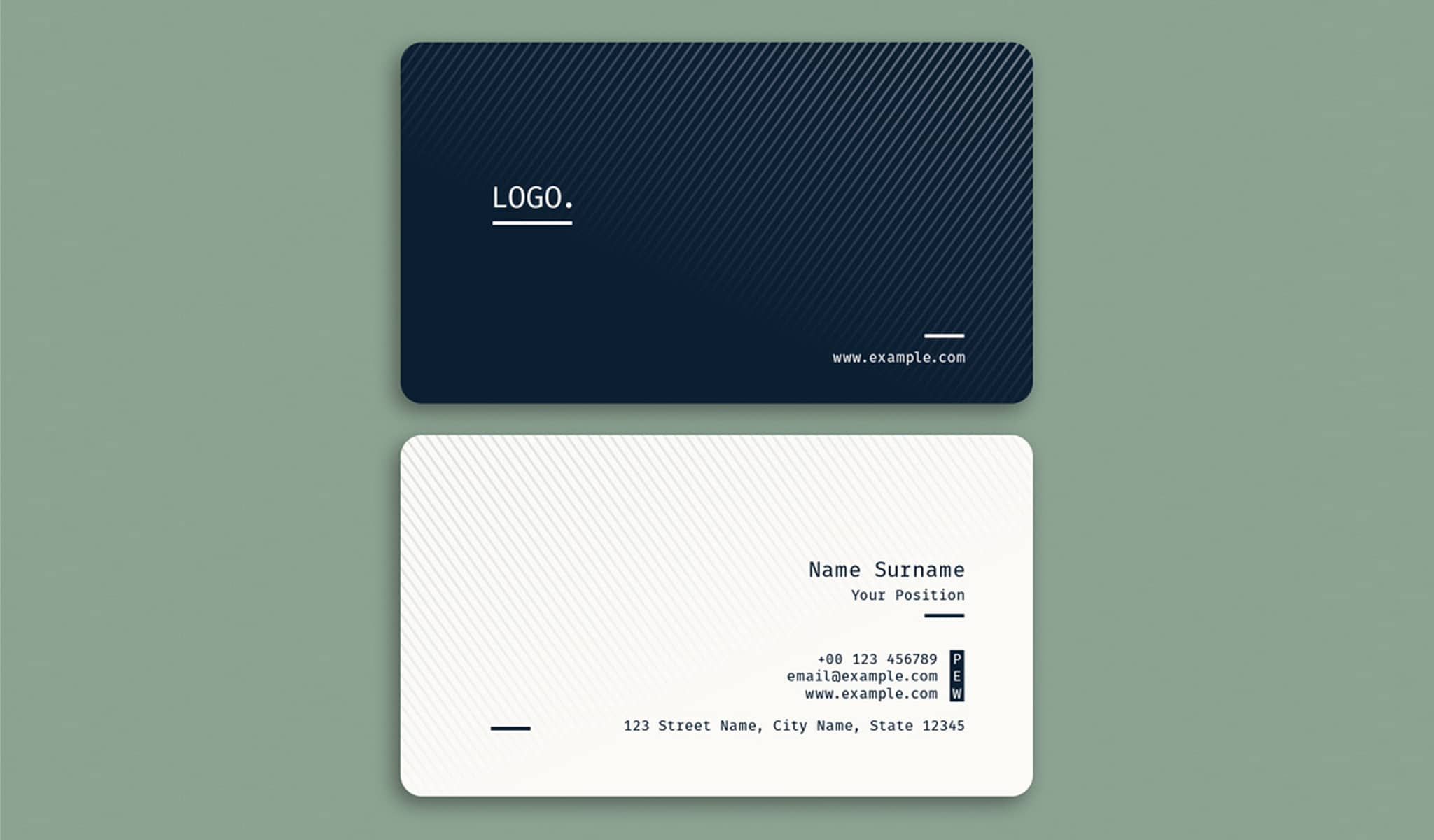 Black and White Timelessness Business Card Template