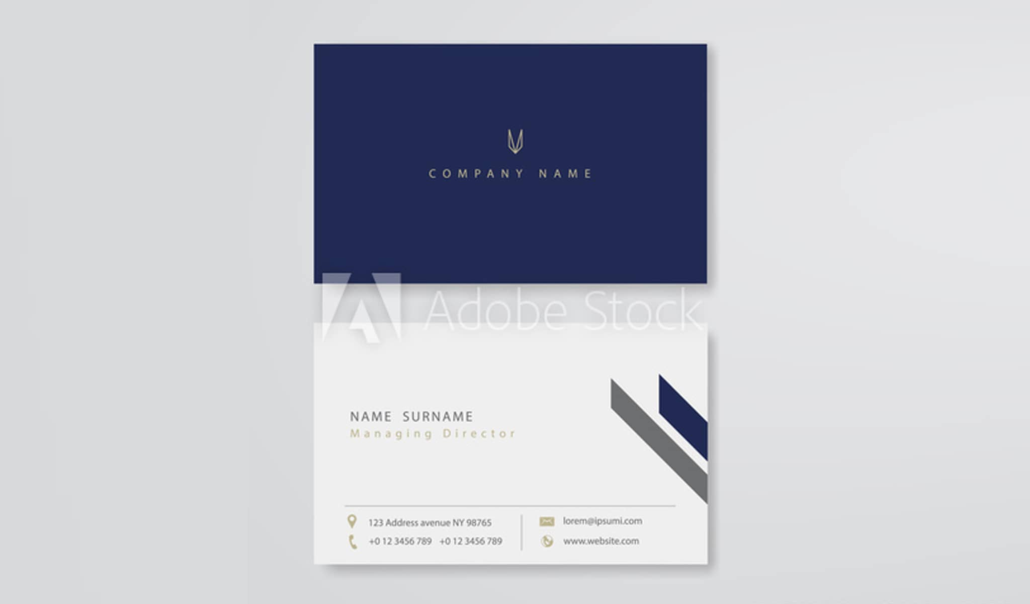 Navy Blue Business Card Template