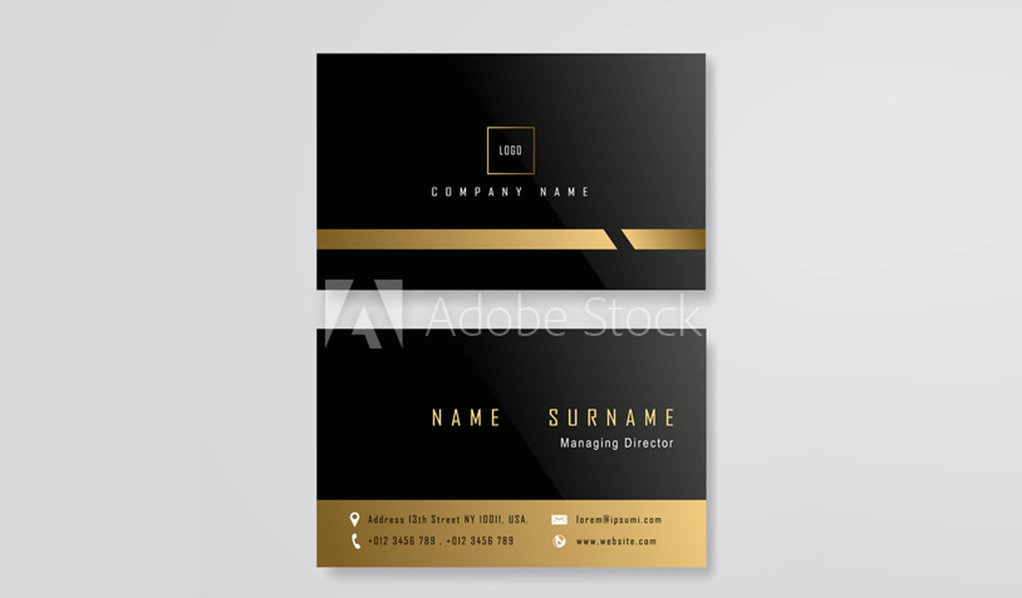 Black and Gold Business Card Template