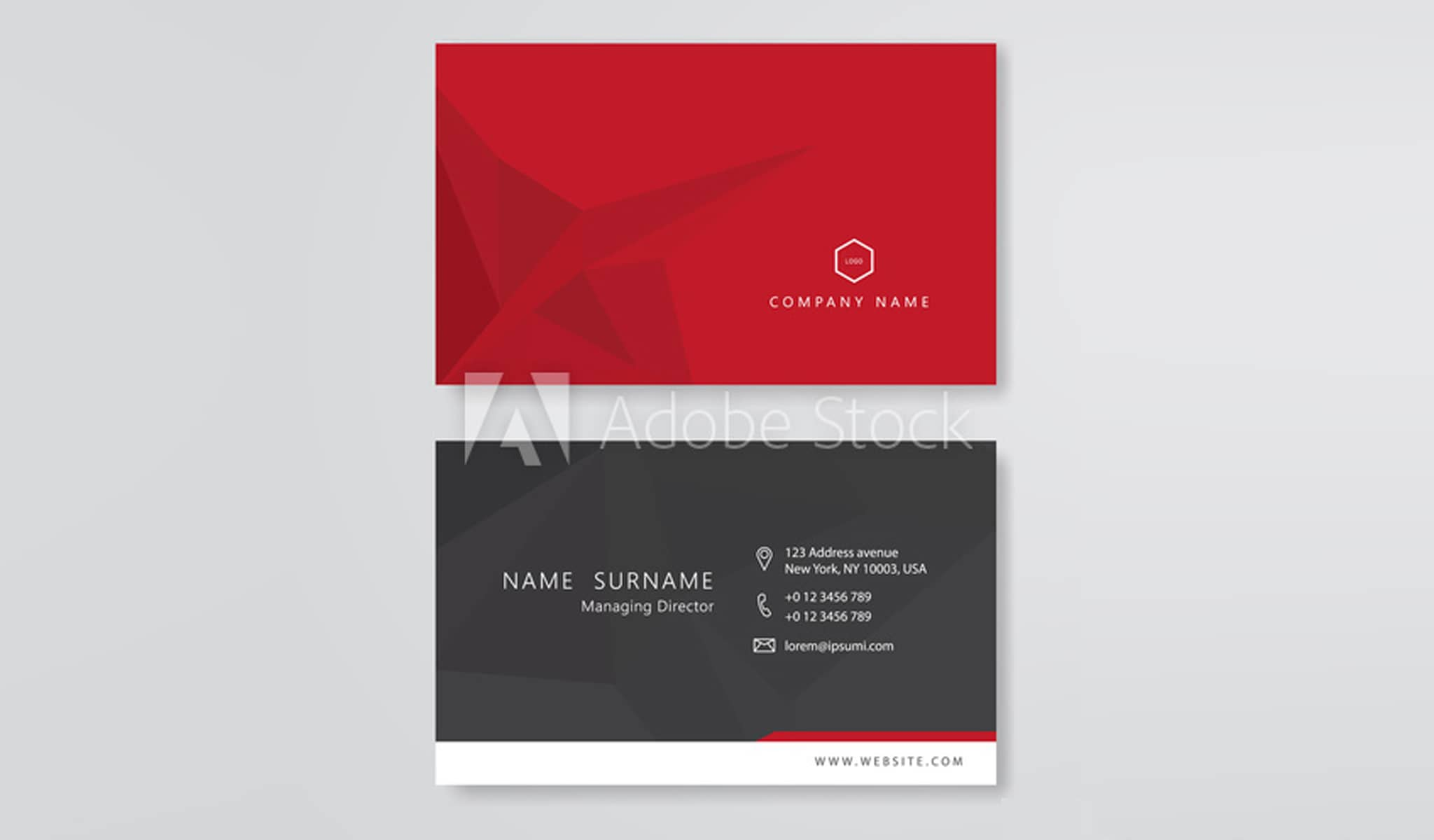 Red's Sublime Business Card Template