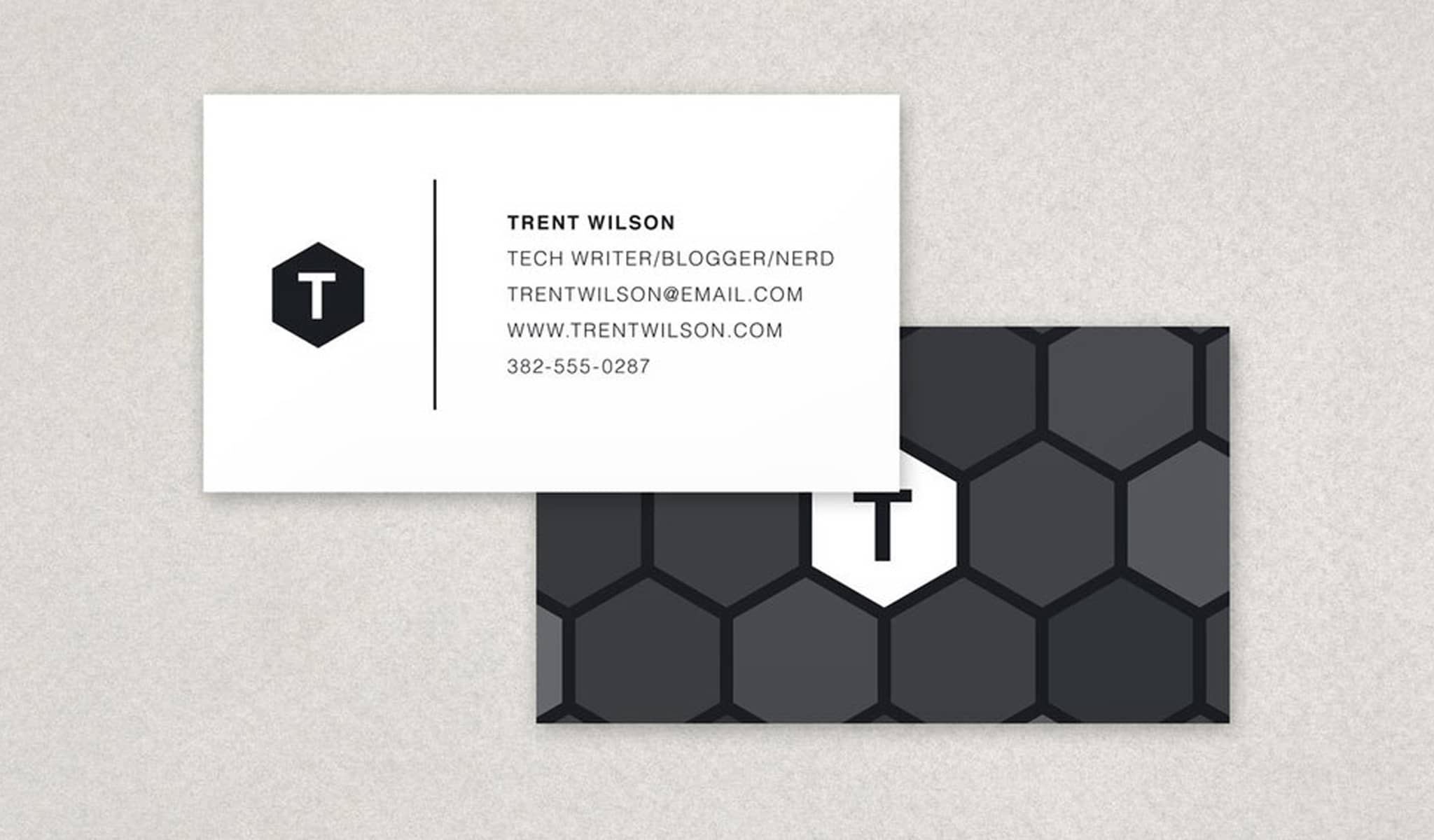 Honeycomb Business Card Template