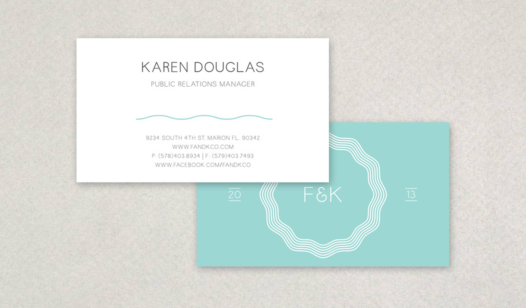 Soft Blue And White Simplicity Business Card Template