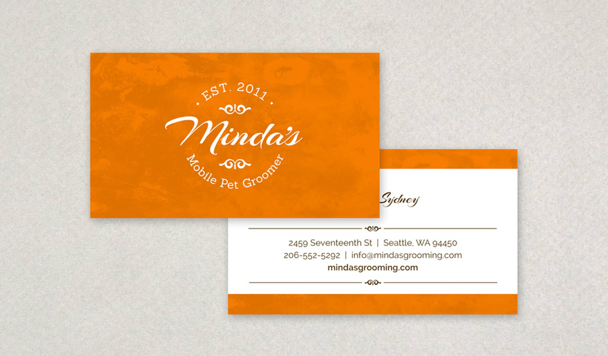 Vintage Elegance Business Card Template