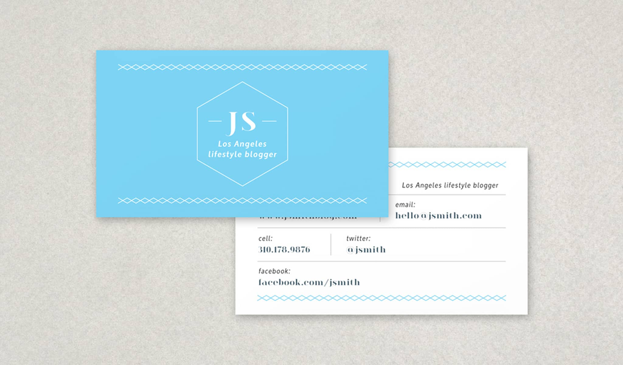 The Sorted Layout Business Card Template