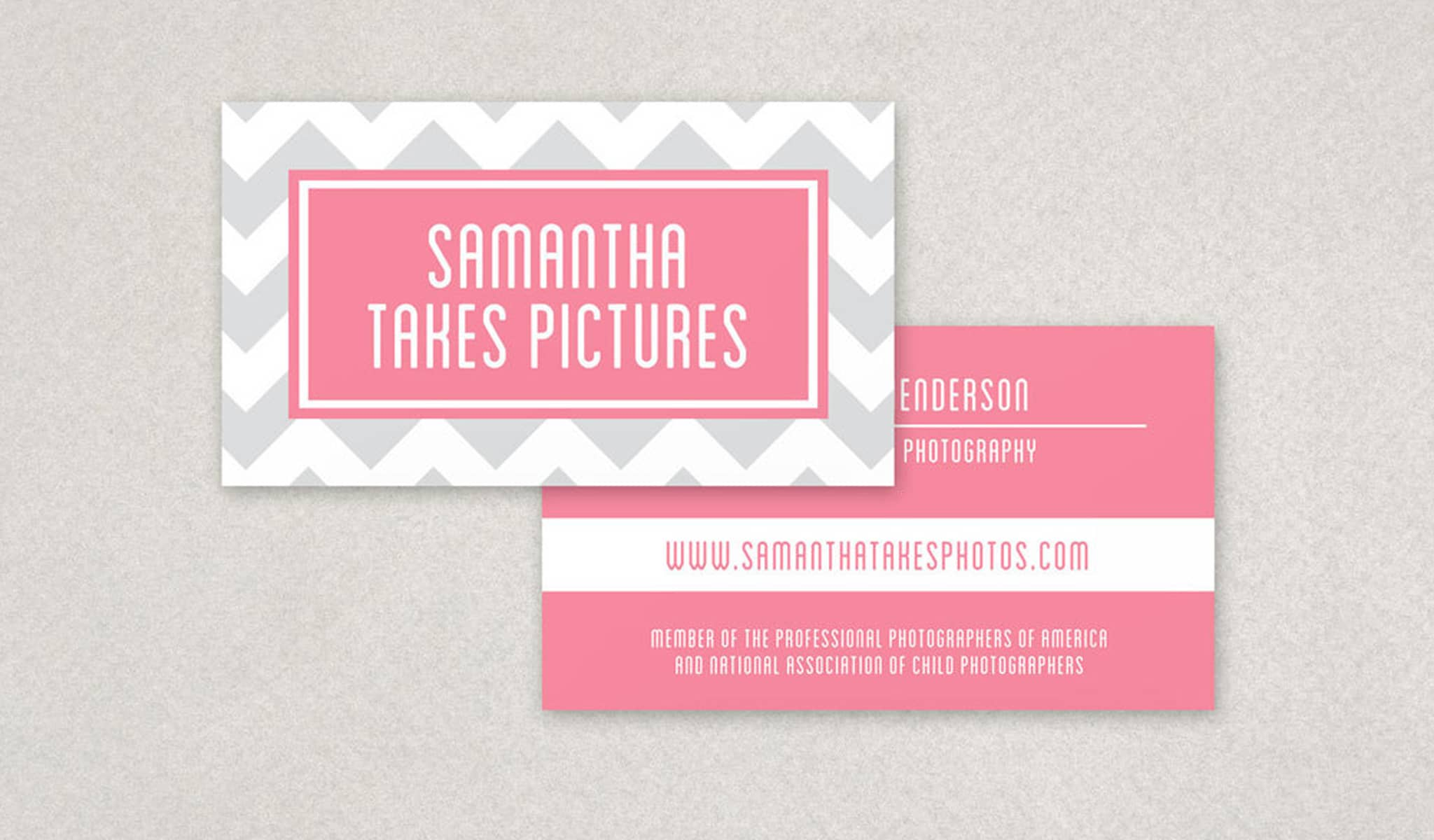 Patterned Pink Paradise Business Card Template