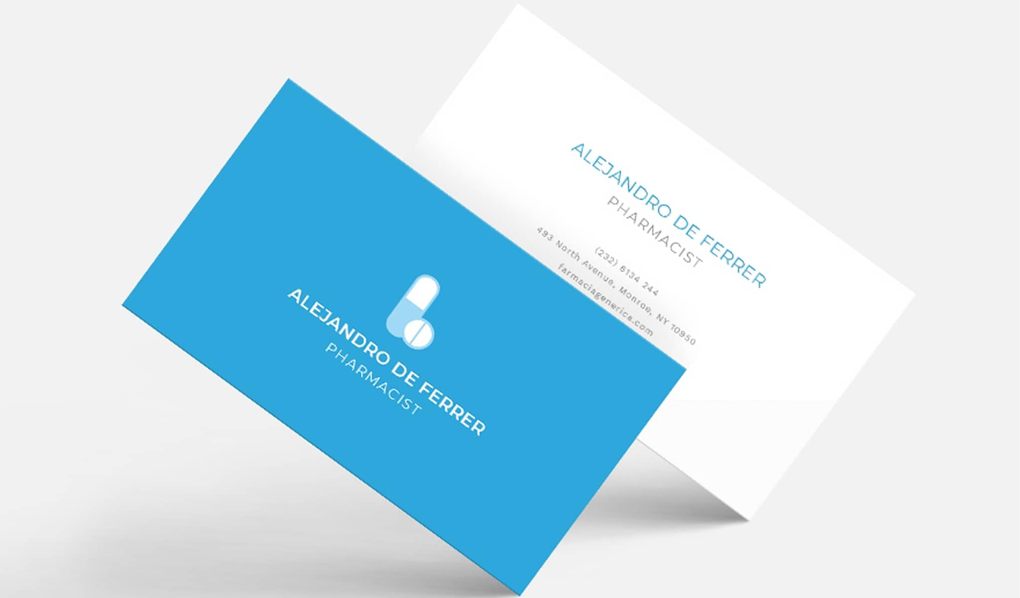Pharmacist Business Card Template