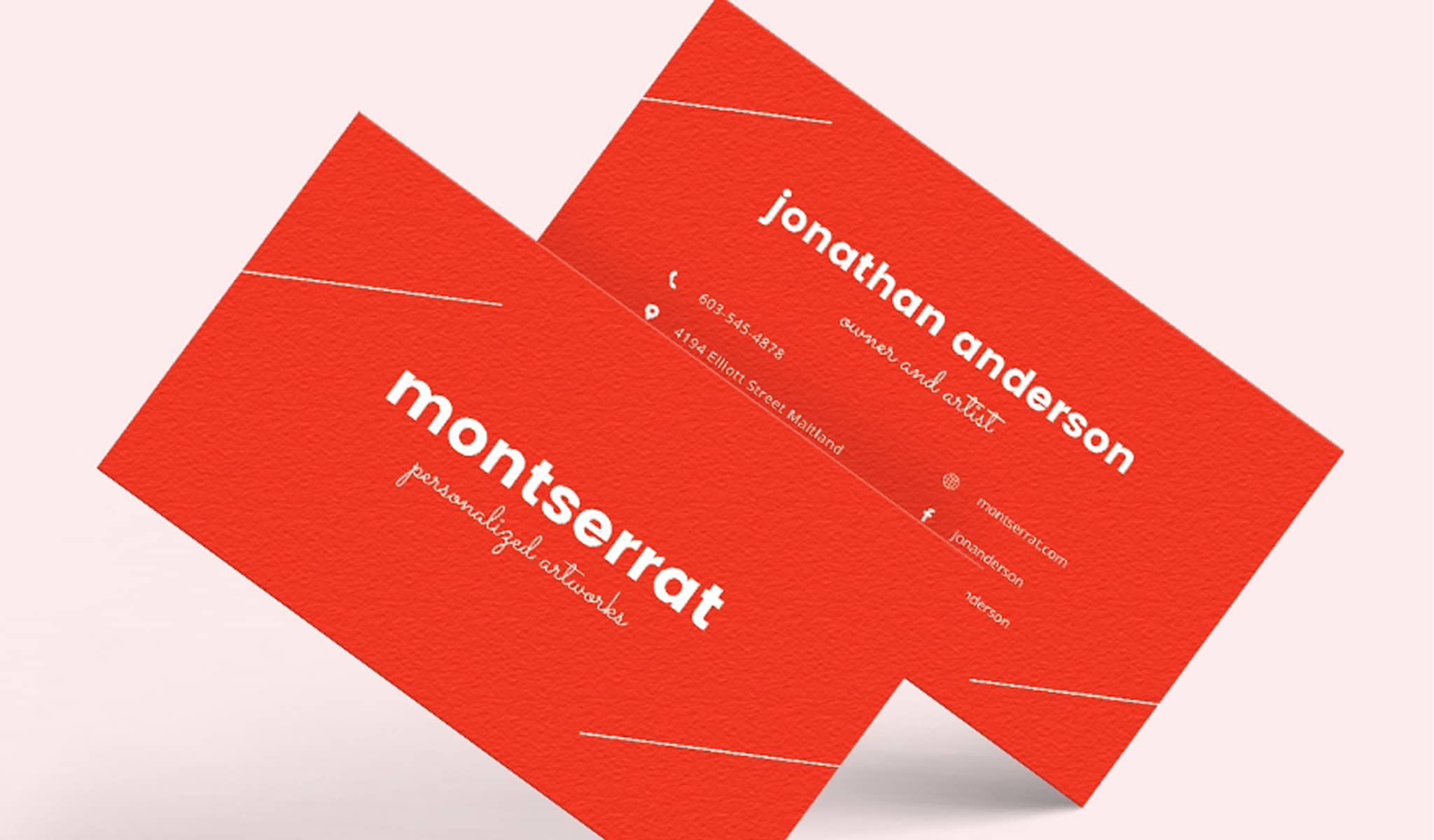 Dominant Red Business Card Template