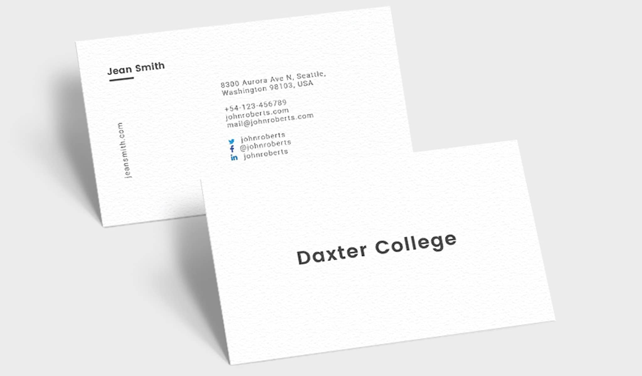 The Simplest Business Card Template