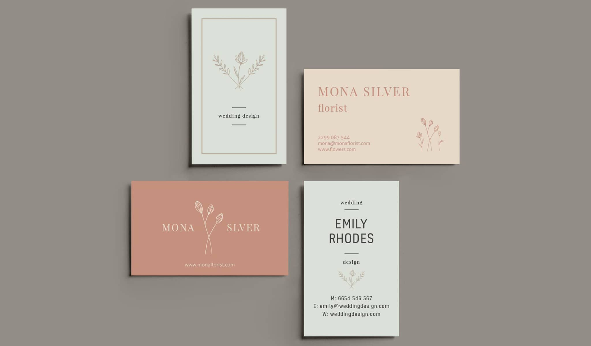 Floral Elegance Business Card Template