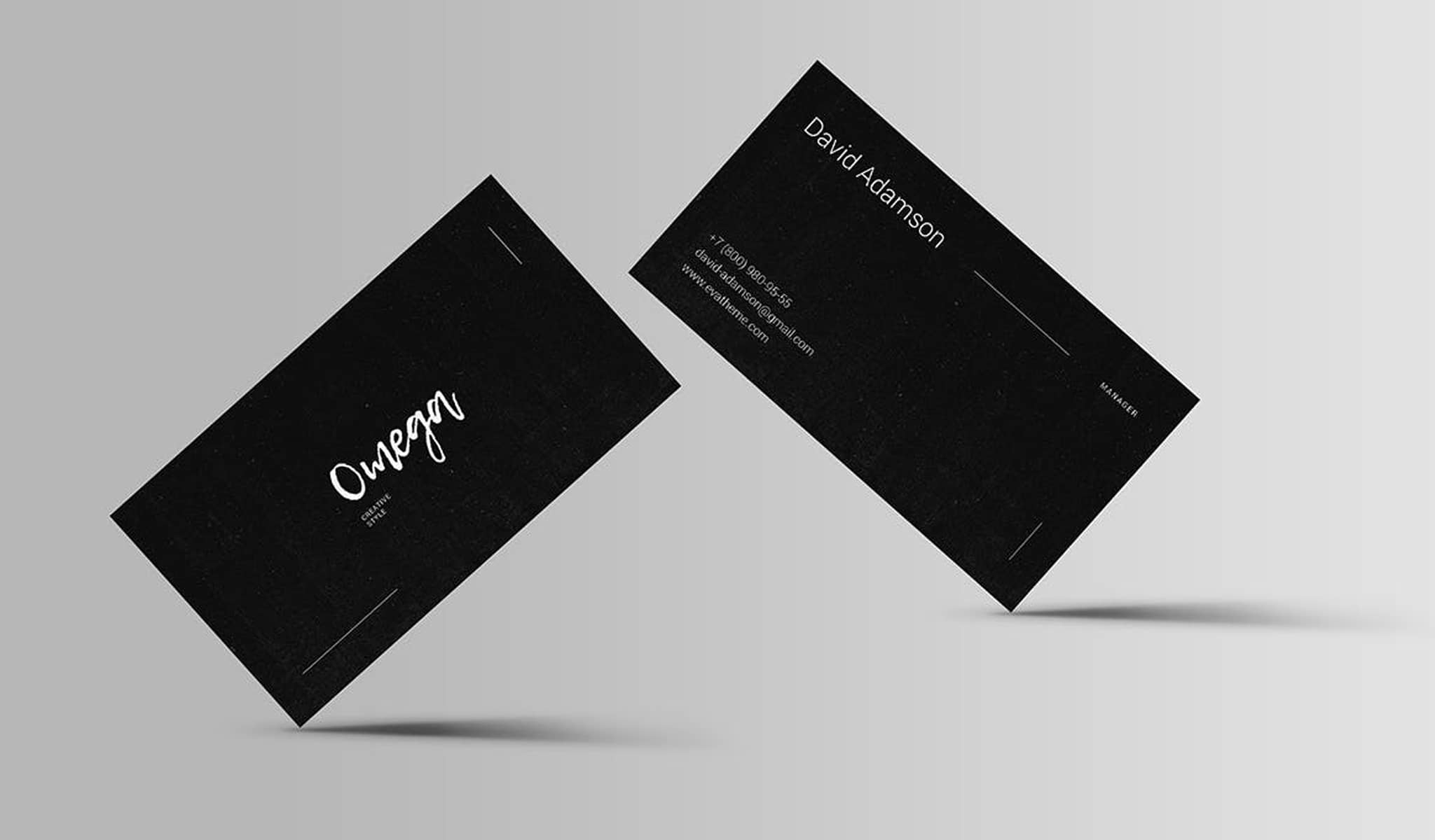 Stylish And Black Sophistication Business Card Template