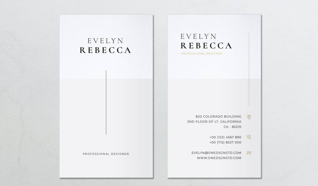 Minimalist Clean Design Business Card Template