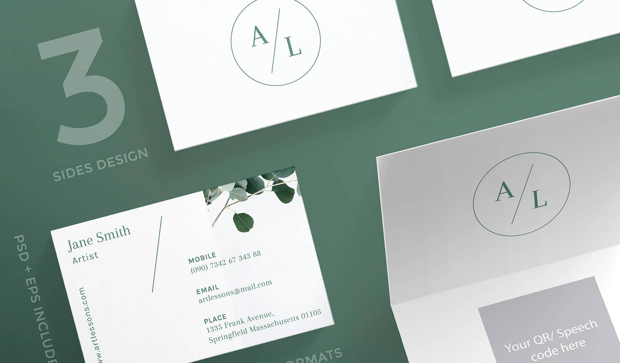 Artsy and Elegant Business Card Template