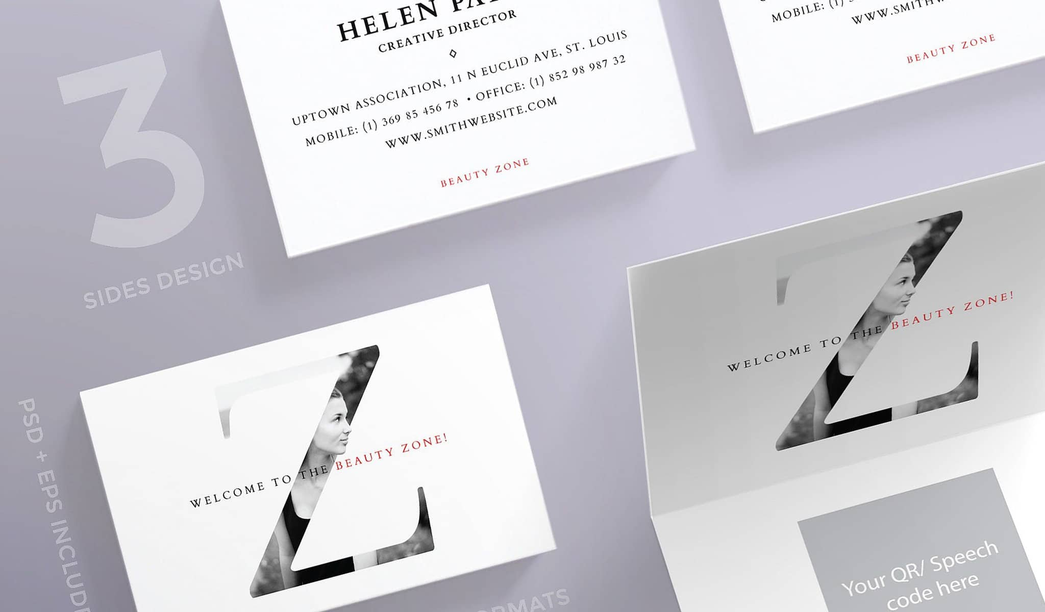 Exclusive Elegant Backside Business Card Template