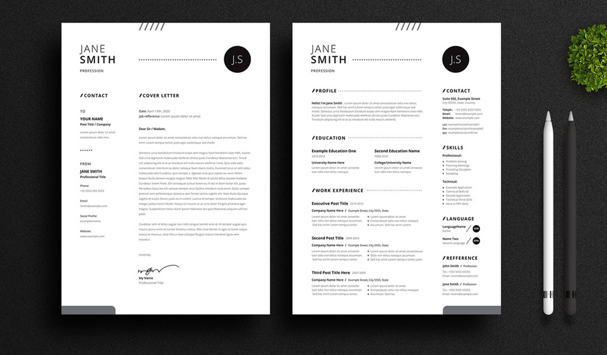 Patterned Classic Resume Template