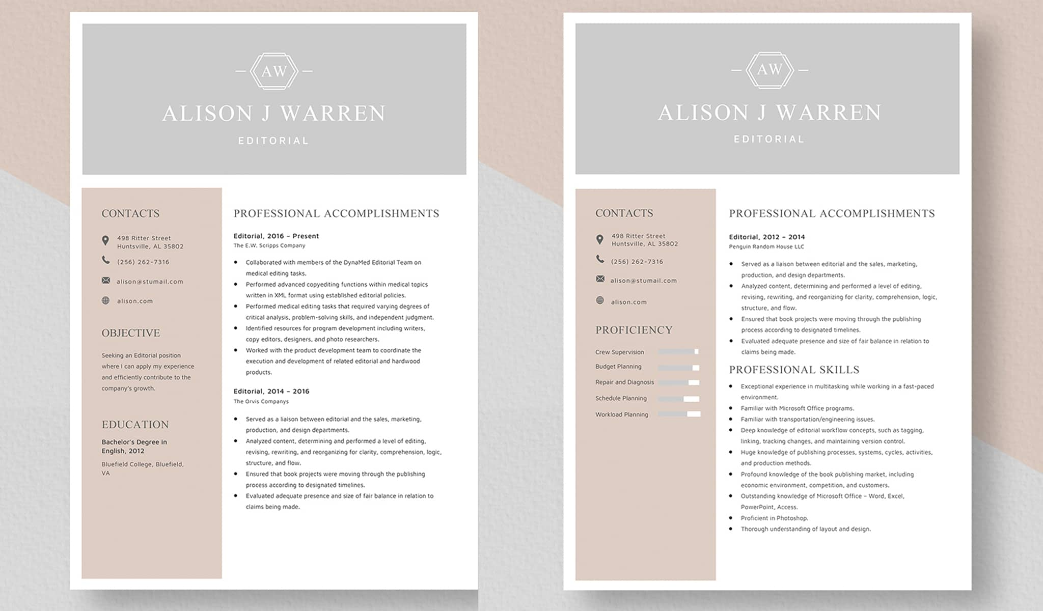 Clear and Simple Resume Template