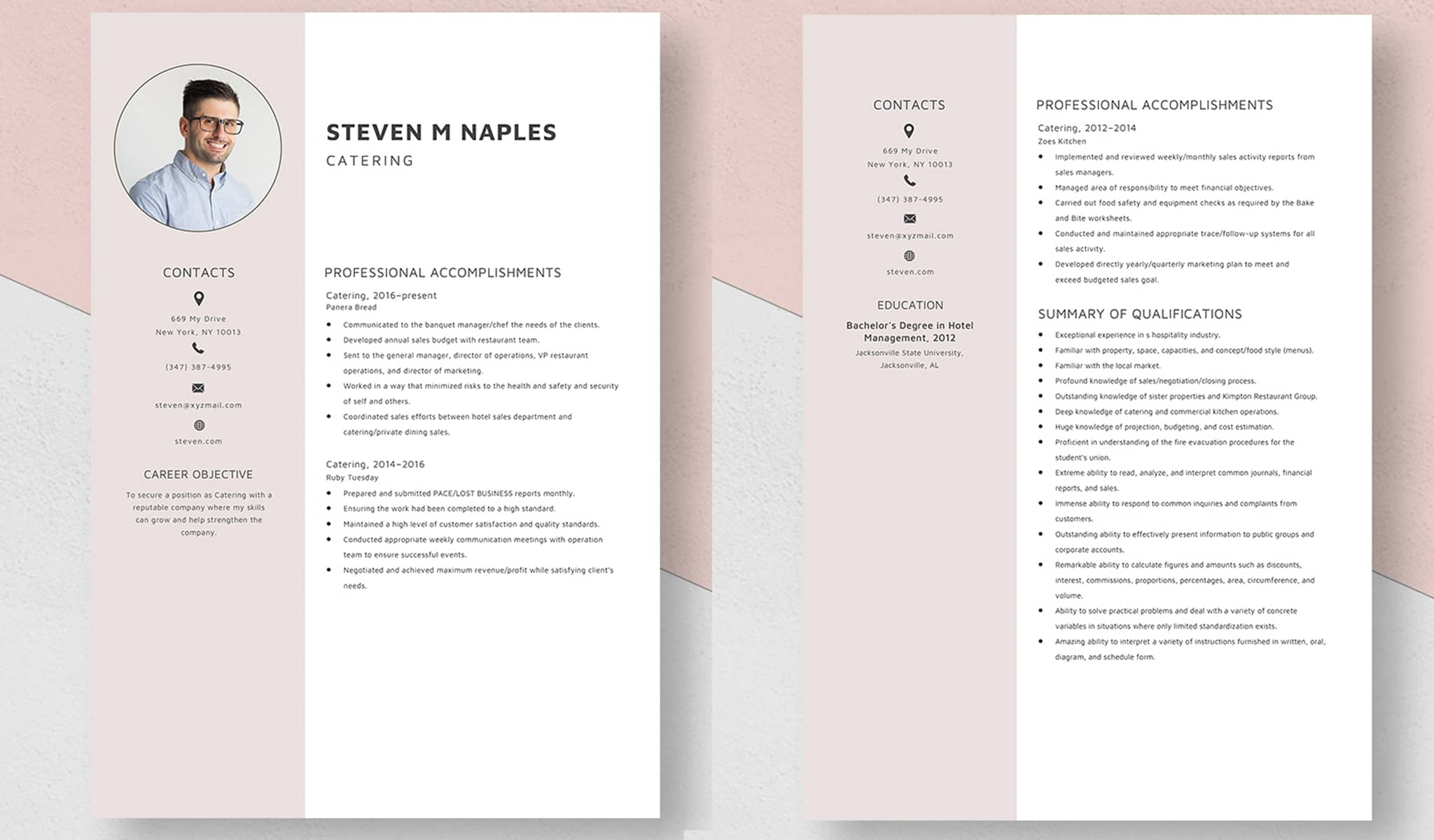 The Different Resume Template