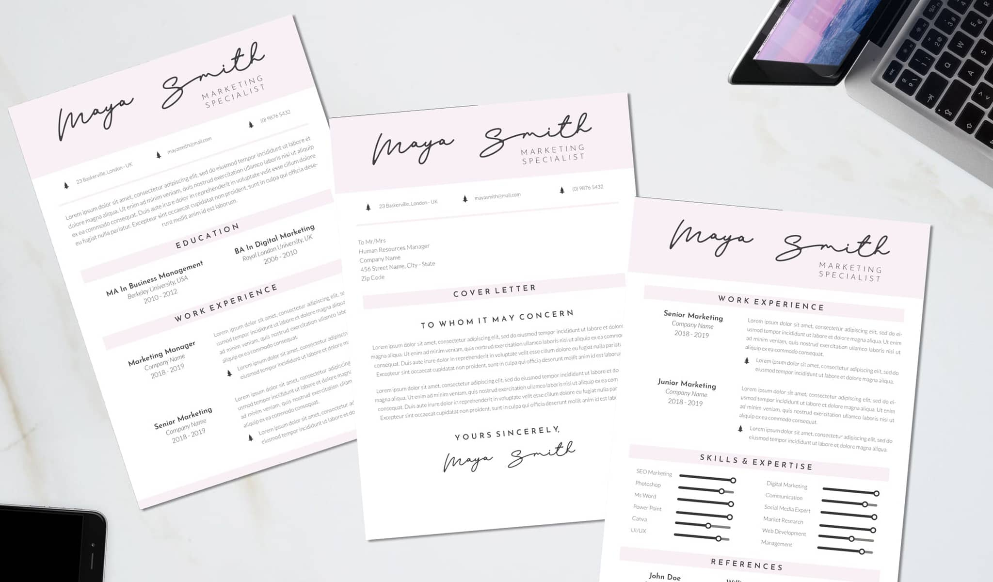 The Artistic and Elegant Resume Template