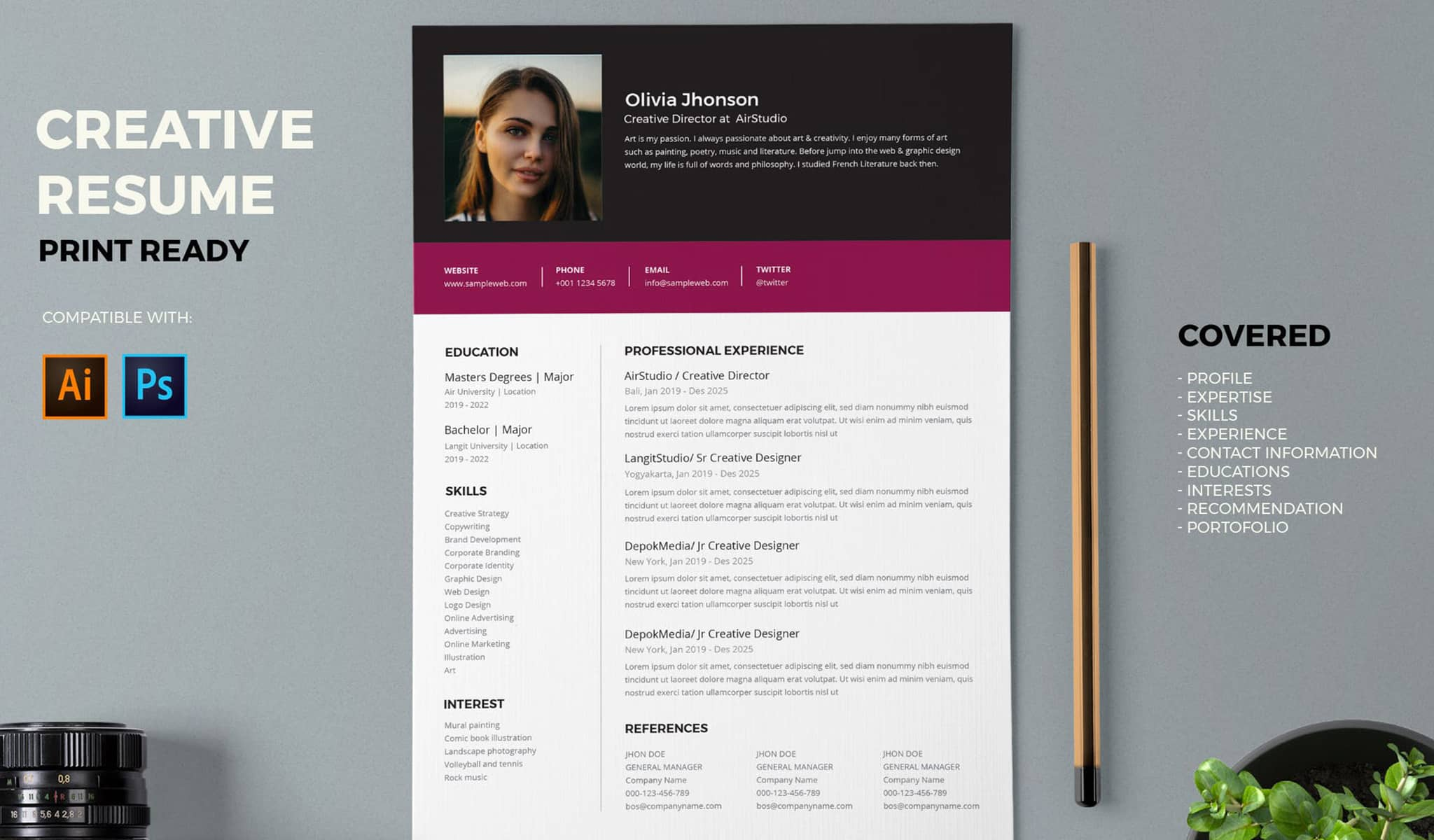 The Casual Resume Template