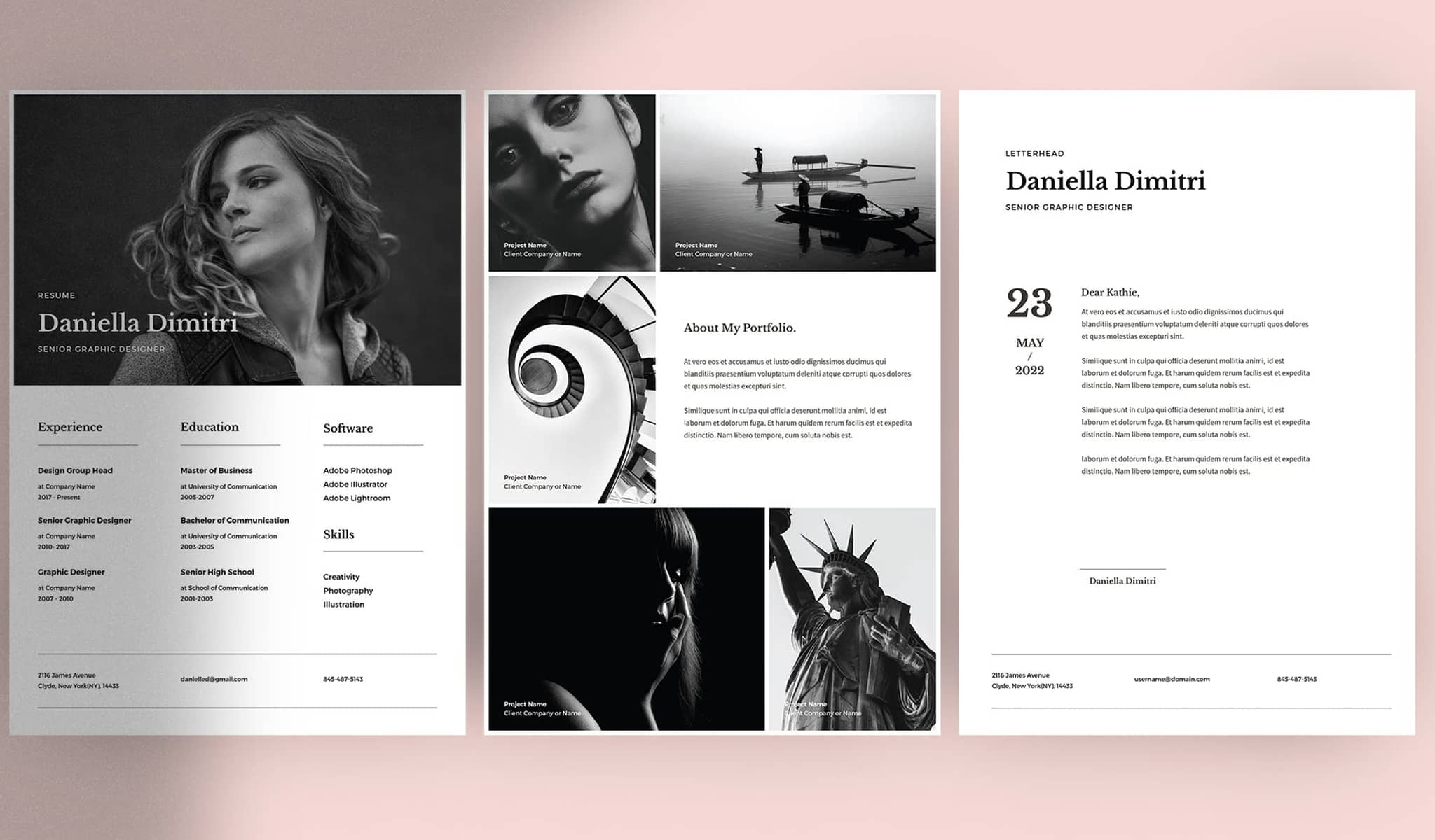 Black and White Sophistication Resume Template