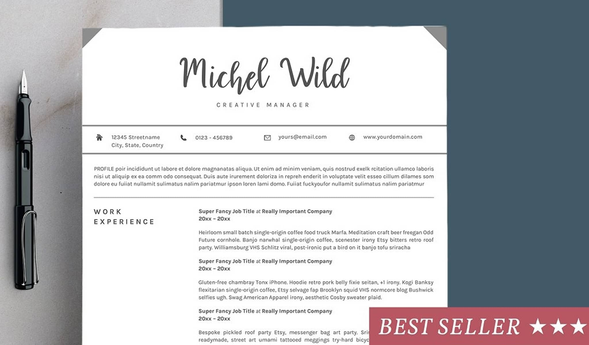 The White Simplicity Resume Template