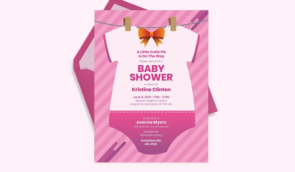 Girly Onesie Invitation