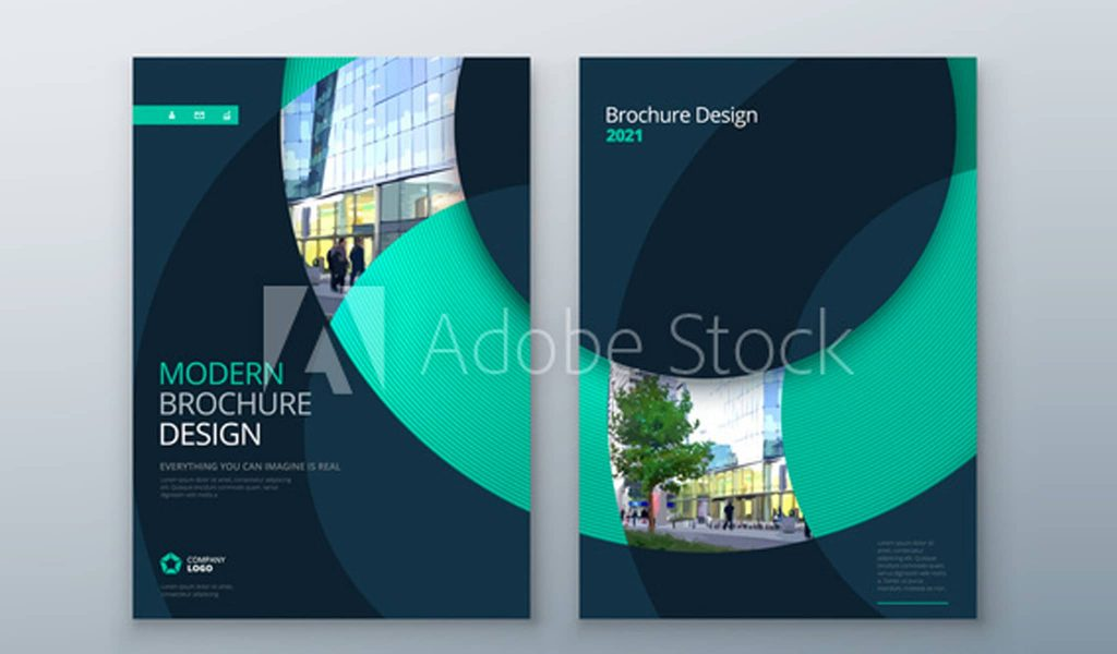 Shades of blue brochure template