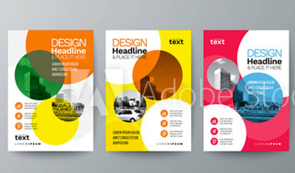 The circle graphic elements brochure templates