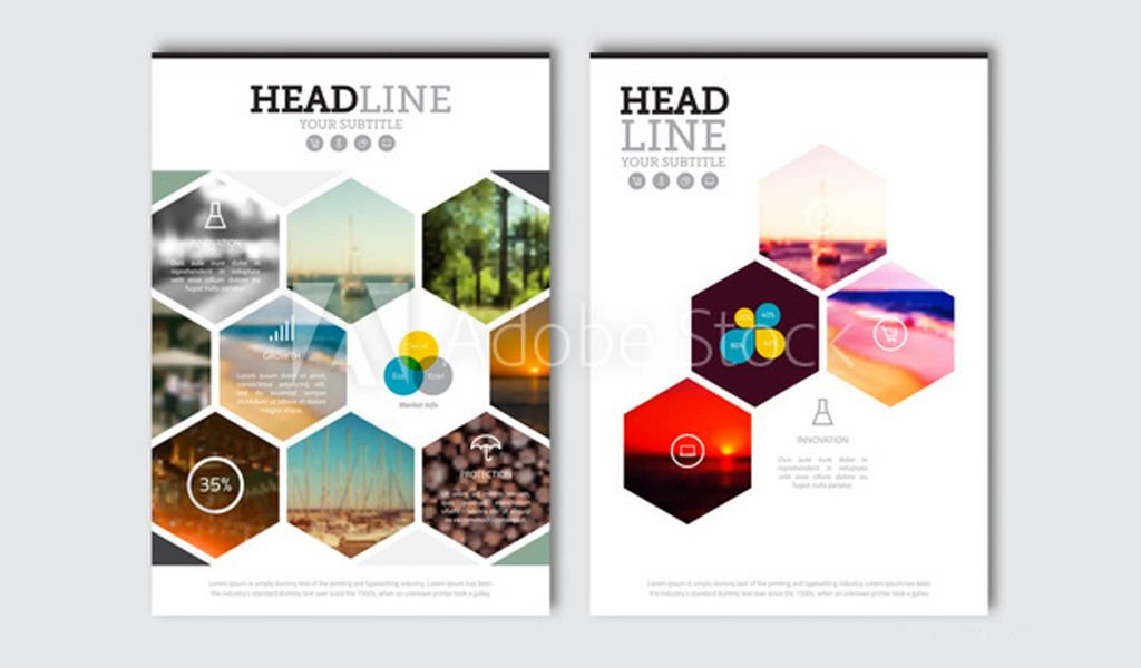 The Honeycomb Design brochure template