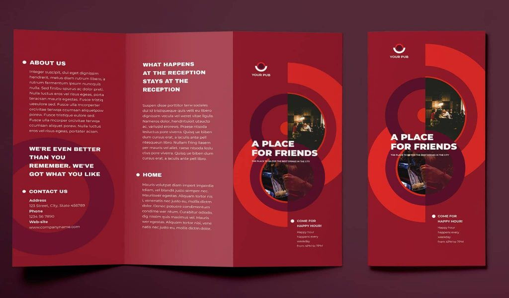 The red brochure template